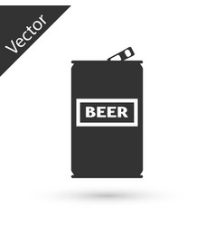 grey beer can icon isolated on white background vector image