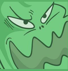 horror monster face vector image
