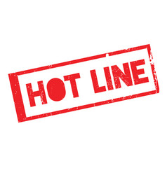 Hot line rubber stamp vector