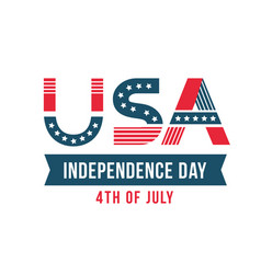 independence day united states poster vector image