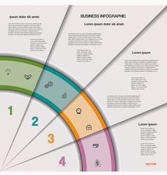 Infographic business process or workflow vector