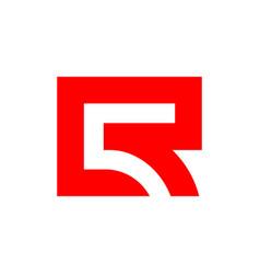 Initial letter r or cr monogram logo design vector