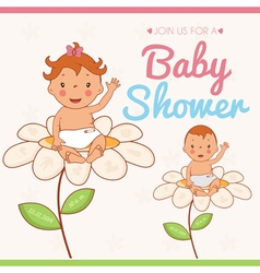 invitation card on baby shower vector image
