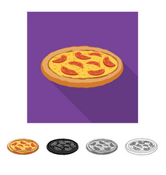Isolated object of pizza and food symbol vector