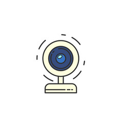 Isolated webcam icon web camera flat icon for vector