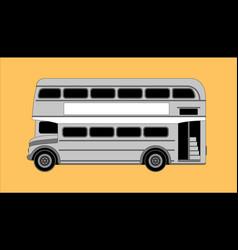 london bus profile vector image
