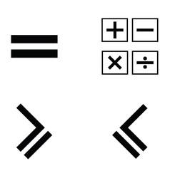 math icon set vector image