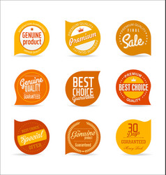 Modern orange design template vector