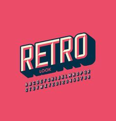 Modern retro style font vector