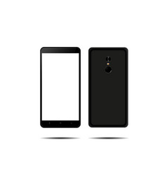 new phone front and back black drawing vector image