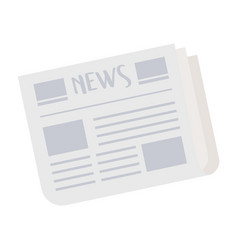 newspaper information isolated icon on white vector image