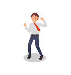office worker with happy face expression young vector image