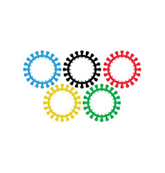olympic games was canceled during coronavirus 2021 vector image
