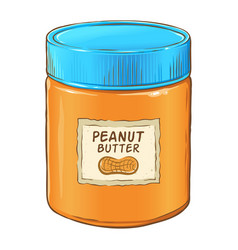 Peanut butter jar vector