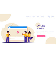 people view and share videos on internet and vector image