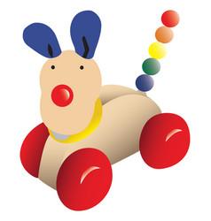 Push-along toy dog vector