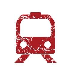 Red grunge train logo vector