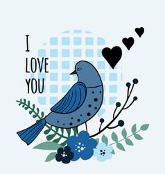 romantic with bird vector image