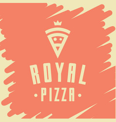 royal pizza style logo icon emblem sign vector image vector image