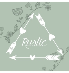 Rustic decorative style vector