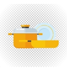 Sale of Household Appliances Dishes vector