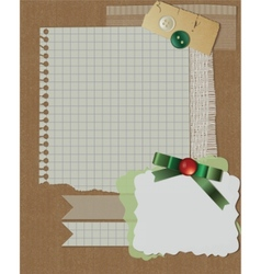 Scrapbook christmas design vector