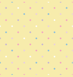 Seamless pattern pastel rainbow with white vector