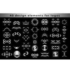 Set Creative icon monogram design elements vector image