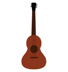 simple of a brown acoustic guitar white background vector image