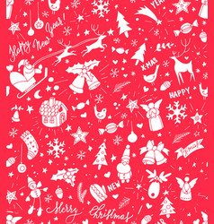 Sketchy doodle winter christmas and new year vector