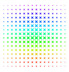 sparkle star shape halftone spectral effect vector image