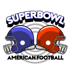 Super bowl helmet badge vector
