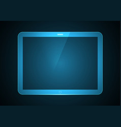 technology future computer tablet vector image