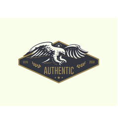 the flying eagle emblem vector image