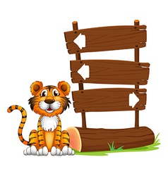 The little tiger vector image