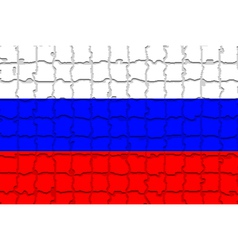 The mosaic flag of Russia vector
