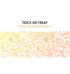 trick or treat concept vector image