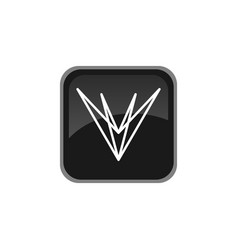 V letter logo simple minimalist design vector