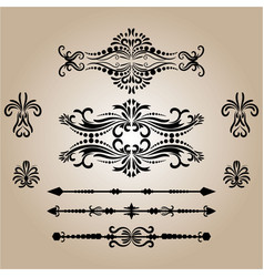 vintage decorations elements flourishes vector image