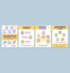 Who is not entitled for maternity leave brochure vector