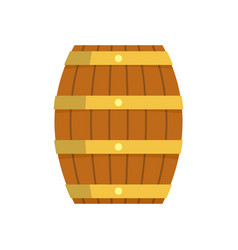 wood barrel icon flat style vector image