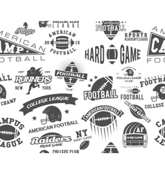 American Football Seamless Pattern vector image