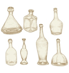 bottles drawings vector image vector image