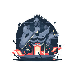 character of hades god death vector image