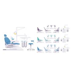 dental equipment set vector image