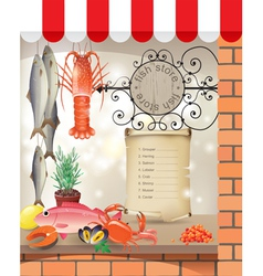 Fish store vector image