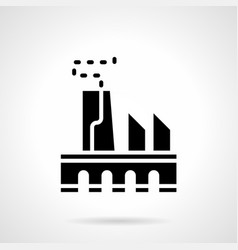 power industry glyph style icon vector image