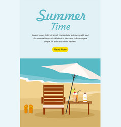 Summer vacation and tourism web banner vector