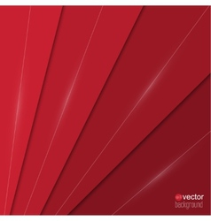 Abstract background of red paper strips and vector image