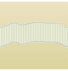 Beige Torn Paper Reveal Stripes Panel vector image